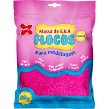 MASSA EVA MAKE FLOCOS ROSA 50GRS 13038