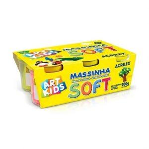 Massinha Modelar Acrilex Soft C/ 06 Potes 900grs Art Kids 07306