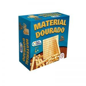 MATERIAL DOURADO MADEIRA 74 PECAS +4 ANOS PAIS E FILHOS 2910