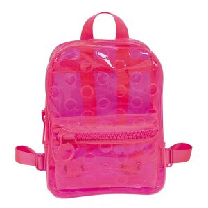 MOCHILA COSTA DAC TRANSPARENTE COLOR BUBBLE ROSA NEON 3386RS
