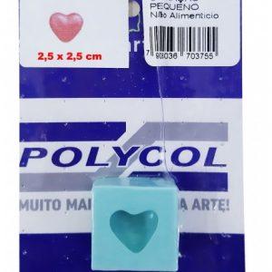 MOLDE POLYCOL SILICONE ALFABETO CORACAO PEQUENO