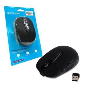 MOUSE MULTILASER LITIO USB SEM FIO 10MTS ALCANCE 6 BOTOES 1600DPI PRETO MO277