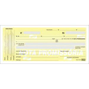 Nota Promissória Pequena - 50 Folhas ( Pacote Com 10UND )