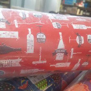 Papel Presente Bobina Couche Vinho Vermelho 60cm 100 Metros - VMP