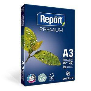 PAPEL SULFITE A3 REPORT PREMIUM BRANCO 75GRS 500FLS