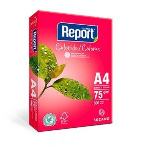 Papel Sulfite A4 Rosa 75grs 500 Folhas Report