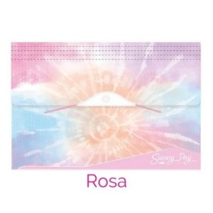 Pasta Sanfonada 12 Divisórias A4 Sunny Day Tie Dye Rosa - Dello