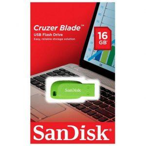 Pen Drive 16GB Sandisk Cruzer Blade Verde