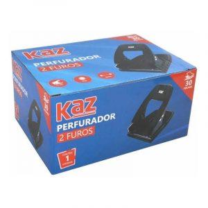 Perfurador de Papel Kaz Metal 30 Folhas Preto KZ9957