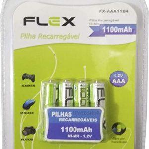 PILHA RECARREGAVEL FLEX AAA 1100MAH 2UND FXAAA11B4