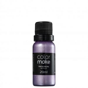 PINTURA FACIAL COLOR MAKE METALICA LILAS LIQUIDA 20ML 1502