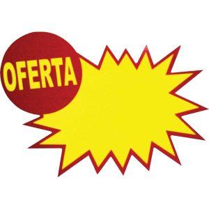 PLACA OFERTA GRESPAN EXPLOSAO 13X9,5CM PCT10
