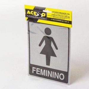 PLACA SINALIZADORA ACESSO BANHEIRO FEMININO 15X20 B565