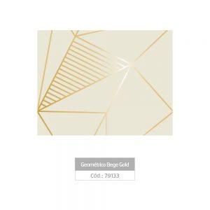 Plastico Adesivo Leotack Geometrico Bege Gold Rolo 10mts 79133
