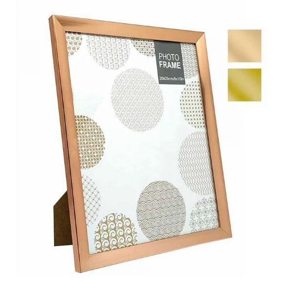Porta Retrato 20x25 Plástico Liso Cromado Onix 4736X