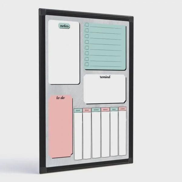 Quadro Lousa Planejamento Semanal Color 60×40cm - Stalo 8457