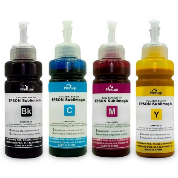 Refil de Tinta Sublimação Epson Yellow 100ml - Masterprint