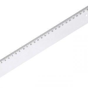 Regua 30cm Acrílica New Line Waleu Cristal