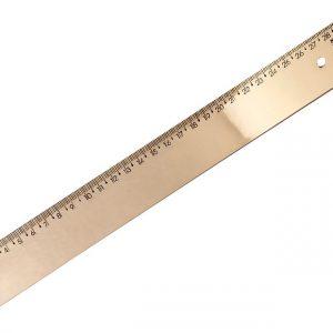 Regua 30cm New Line Acrilica Ouro Metalico Waleu