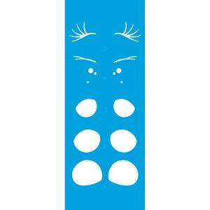 Stencil Litoarte Estampa Olhos Sobreposição 7x17cm STP-128