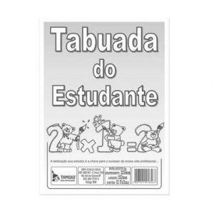 Tabuada Do Estudante Tamoio 10 Folhas 1856