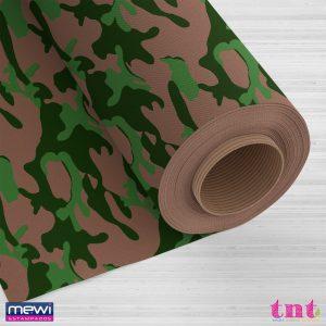 Tecido Estampado TNT Mewi Camuflado Bege Mini C/50 Metros