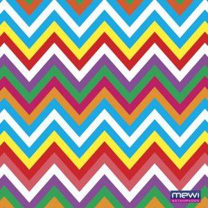 Tecido Estampado TNT Mewi Chevron Colorido c/50 Metros