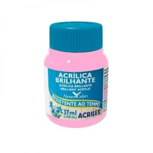 Tinta Acrilica Acrilex Brilhante Rosa 37ml