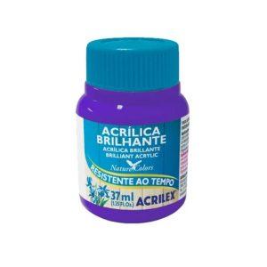 Tinta Acrilica Acrilex Brilhante Violeta 516 37ml 03340