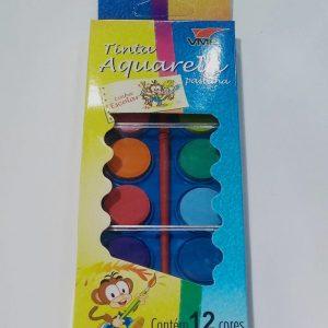 Tinta Aquarela VMP 12 Cores + Pincel 224.61.99