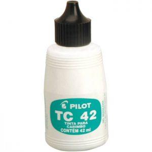 TINTA CARIMBO PILOT TC42 42ML PRETO