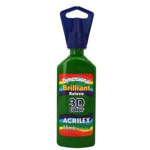Tinta Dimensional Acrilex Brilhante Verde Musgo 35ml