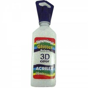 TINTA DIMENSIONAL ACRILEX GLITTER CRISTAL 35ML 209
