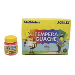 TINTA GUACHE ACRILEX 15ML ROSA 537 CX12