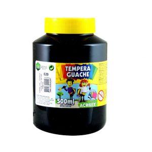 TINTA GUACHE ACRILEX 500ML PRETO 520