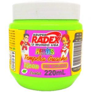 Tinta Guache Radex Neon Verde 220ML Herois 7882