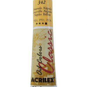 Tinta Óleo Acrilex Amarelo Napoles 20ml 342