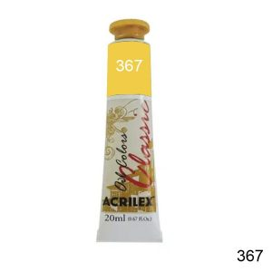 Tinta Óleo Acrilex Amarelo Permanente Escuro 20ml 367