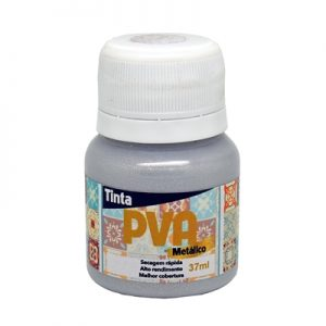 TINTA PVA GLITTER METALICO PRATA 37ML 036