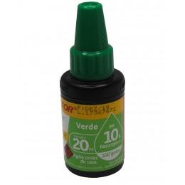 Tinta Reabastecedor Pincel Atomico Verde Compactor 20ml