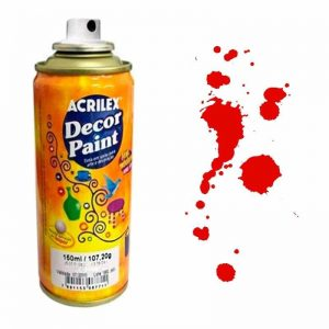 TINTA SPRAY ACRILEX VERMELHO 523 150ML DECOR PAINT