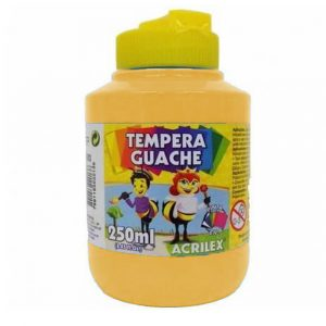 Tinta Têmpera Guache Acrilex 250ml Amarelo Ocre C/ 06 Unidades 02025