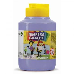 Tinta Têmpera Guache Acrilex 250ml Lilas 02025