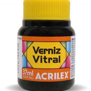 TINTA VERNIZ VITRAL ACRILEX LARANJA 517 37ML