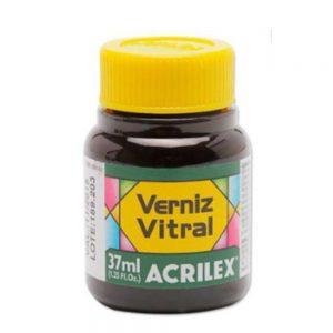 TINTA VERNIZ VITRAL ACRILEX VERDE VERONESE 512 37ML