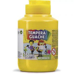 Têmpera Guache Acrilex 250ml Amarelo Ouro