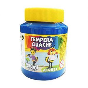 Têmpera Guache Acrilex 250ml Azul
