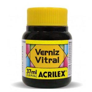 Verniz Vitral Acrilex Amarelo Ouro 37ml c/ 6 unidades